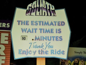 Waiting time at Goliath