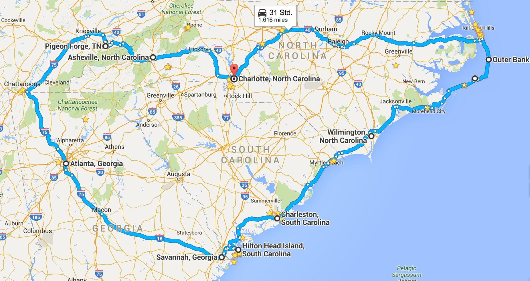 Südstaaten-Routen Teil 1: Atlantikküste   Country at Heart