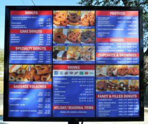 Drive-Thru Menu Round Rock Donuts