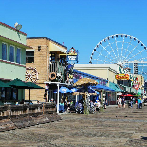 Boardwalk in Myrtle Beach Downtown
