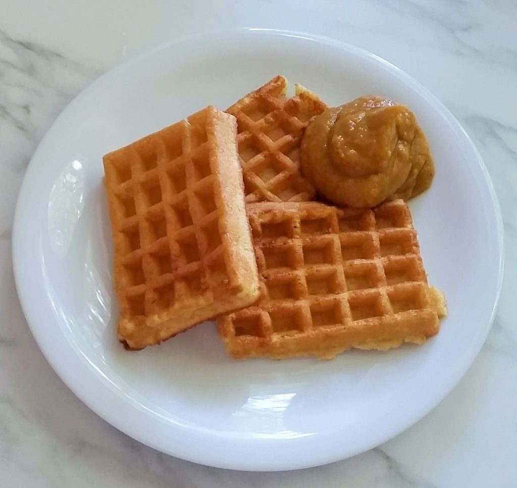 Sweet Potatoe Butter and Waffles