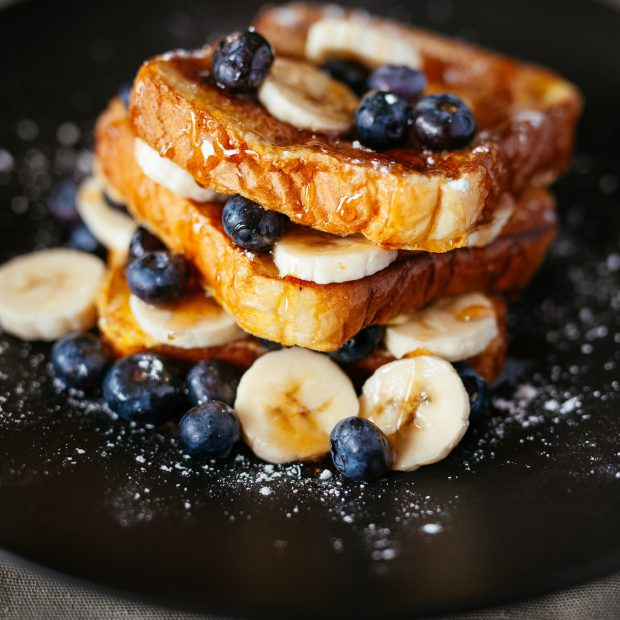 French Toast wirh Fruits