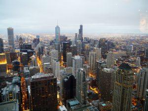 Sundown in Chicago