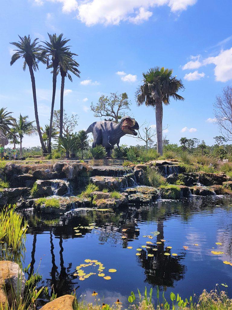 Dinosaur Roar Exhibition Tyrannosaurus Rex at Naples Botanical Garden