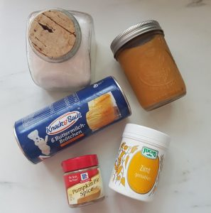 Ingredients for Pumpkin Spiced Bread