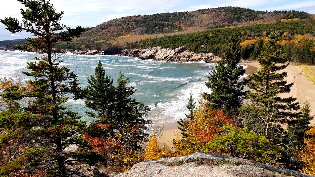 View of Sand Beach, Acadia Nationalpark