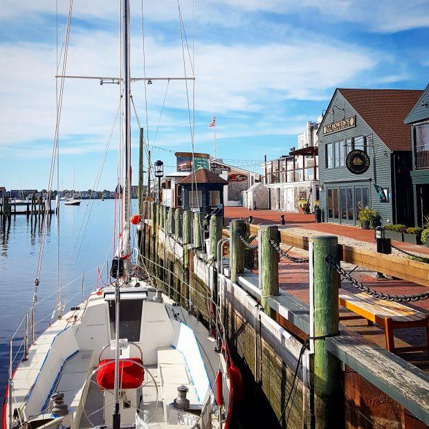 Sailboat Bannister's Wharf
